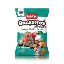 Bocaditos Frutales manzana Frutilla y Durazno de Golocan 100g