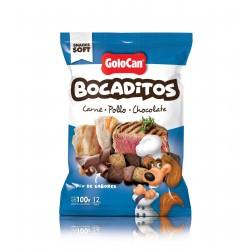 Bocaditos Finos carne pollo y chocolate de Golocan 100g