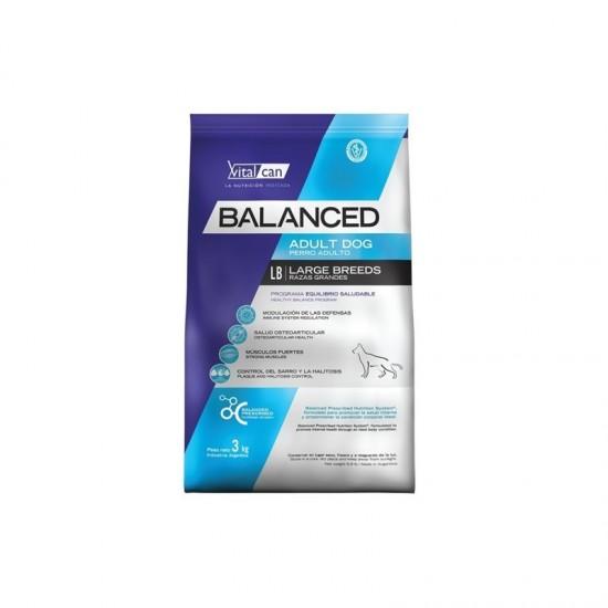 Vital Can Balanced Adulto Raza Grande tres unidades de 3 kg c/u