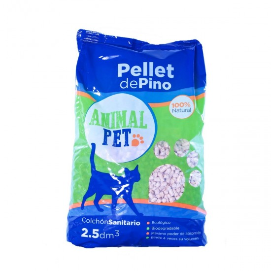 Animal Pet Pellets de Pino x 2.5 Dm3
