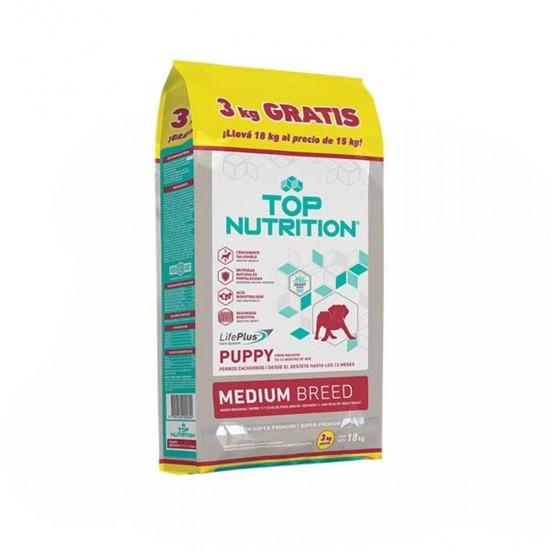 Top Nutrition Cachorros Razas Medianas x 15 kg +3