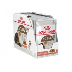 Royal Canin Alimento Húmedo para Gato Ageing 12+  Pouch 85gr x 12u