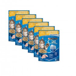 Purina Cat Chow Esterilizado Pescado Pouch Caja x 15 u. 85 grs c/u