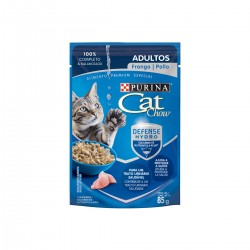 Purina Cat Chow  Adultos Pollo Pouch x 85 grs