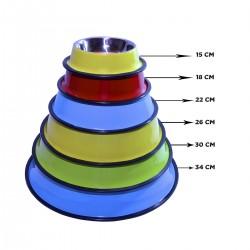 Comedero de Acero Inoxidable - Colores
