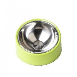 Comedero Inclinado de melamina con bowl de acero inoxidable - Verde