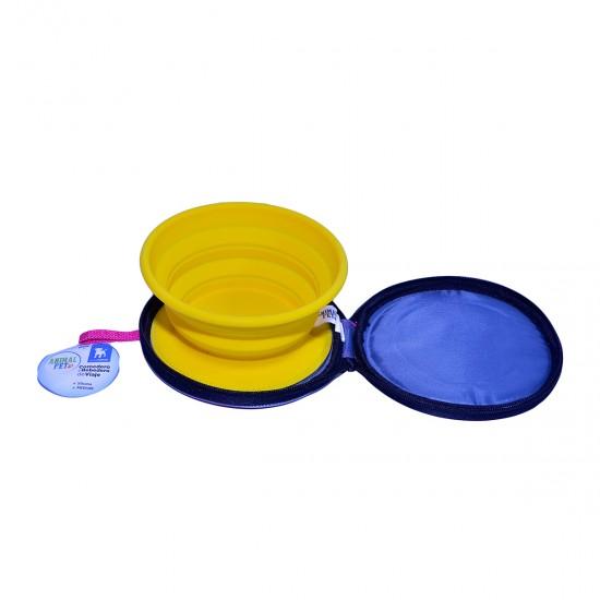 Comedero/Bebedero de viaje plegable de silicona - Medium