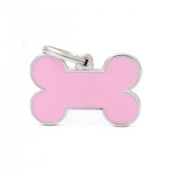 Chapita identificatoria- Basic Handmade - Small Bone Pink