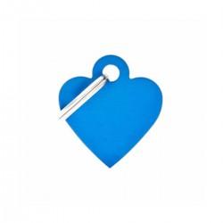 Chapita identificatoria- Basic- Small Heart Aluminum Blue