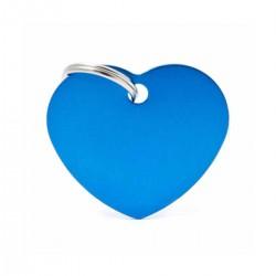 Chapita Identificatoria- Basic- Big Heart Aluminum Blue