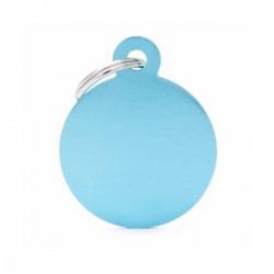 Chapita Identificatoria- Basic - Big Round Aluminum Light Blue