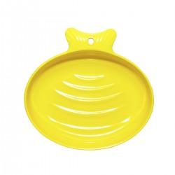Comedero para gato melamina - Amarillo