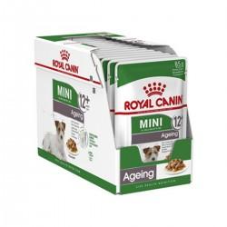 Royal Canin Alimento Húmedo para Perro Mini Ageing 12+  Pouch 85gr x 12u